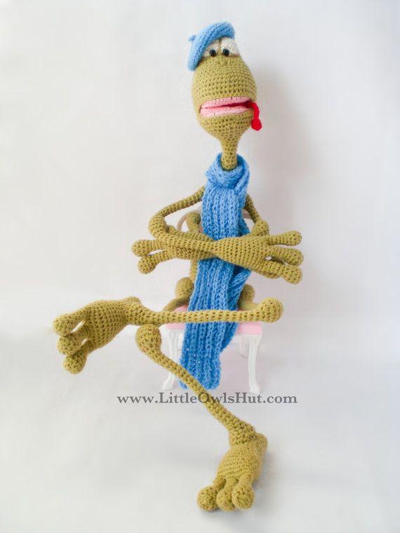 Frog Crochet pattern PDF Amigurumi toy with wire by LittleOwlsHut ...