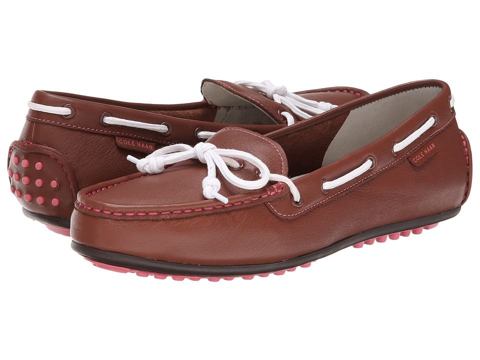 COLE HAAN COLE HAAN - GRANT ESCAPE (BROWN LEATHER) WOMEN'S MOCCASIN SHOES. #