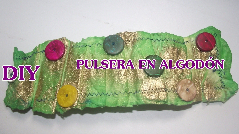 DIY PULSERA EN PASTA DE ALGODÓN FLEXIBLE