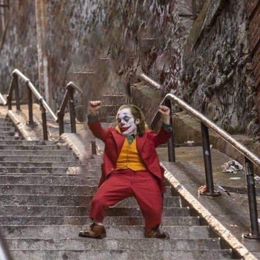 Mini Joker Dancing on Stairs Template (Cropped) Mini