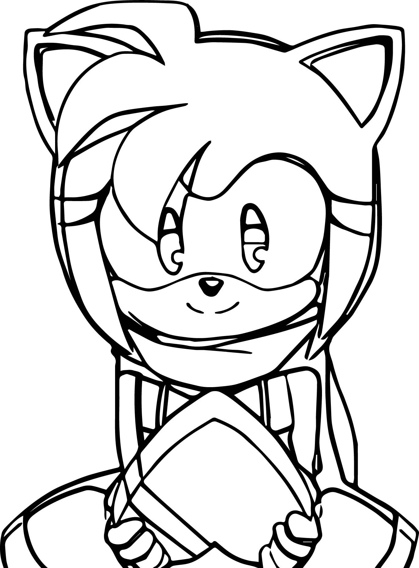 Amy Rose Heart Box Coloring Page | Pinterest | Amy rose