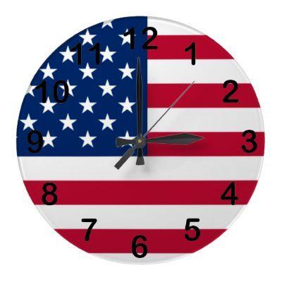 American Flag Wall Clock by joacreations