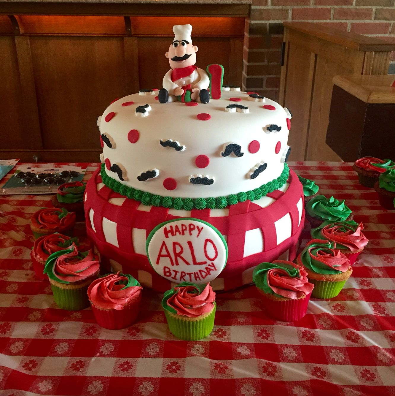 Italian Themed 1st Birthday Cake