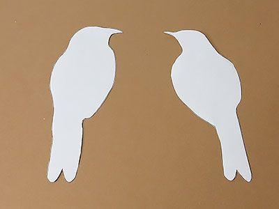 vogel silhouette papierkunst pinterest vogel silhouette diy deko und wandbilder. Black Bedroom Furniture Sets. Home Design Ideas