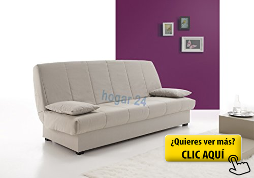 SOFA CAMA CLIC CLAC CON ARCÓN DE ALMACENAJE GRIS #sofa   Muebles de ...