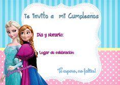 Invitaciones De Frozen Para Cumpleaños Tarjetas De