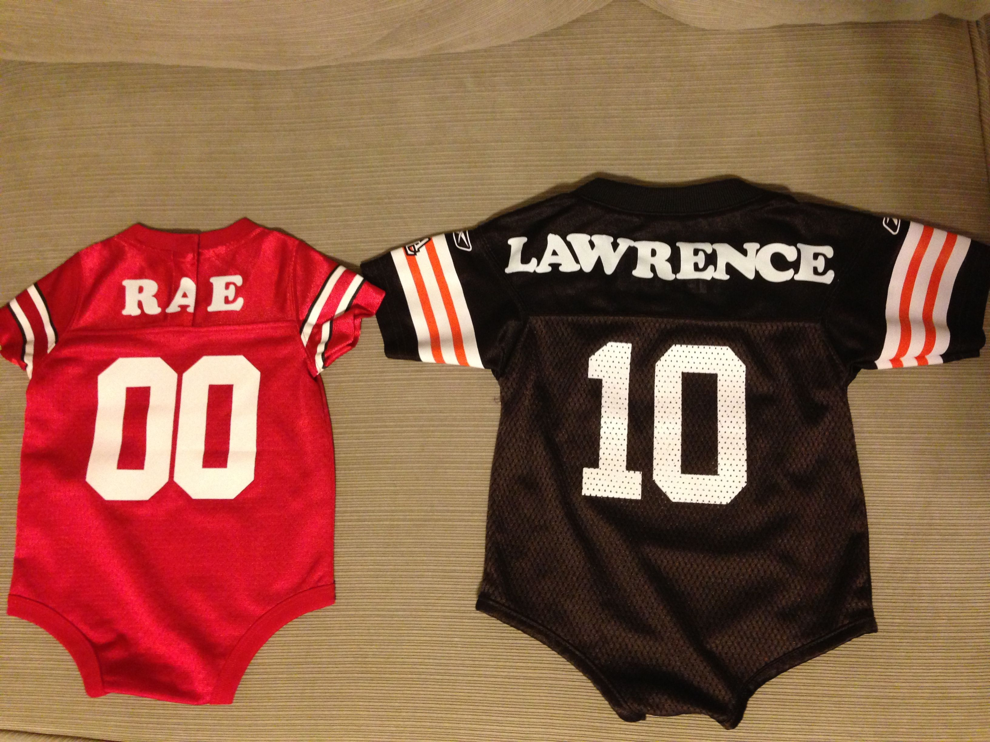 Goodbye pre-printed jersey, hello personalized baby jersey