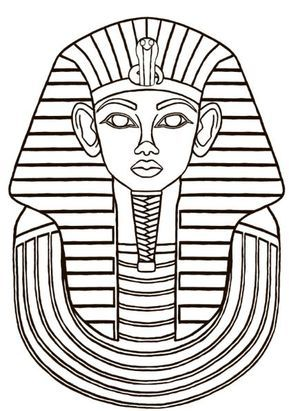 King Tut Coloring Page Free Drawing Board Weekly Egyptian Painting Ancient Egypt Art Egyptian Drawings