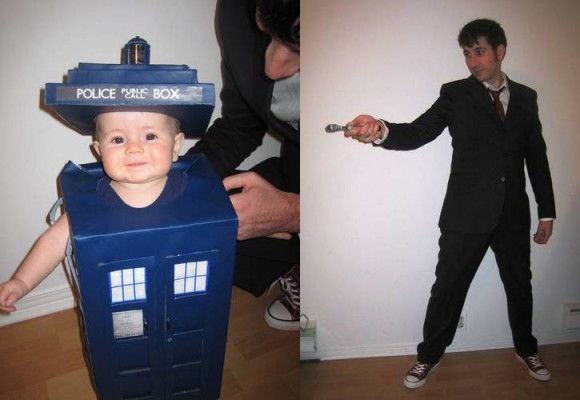Doctor Who Dad and Daughter Costume by craftster.org