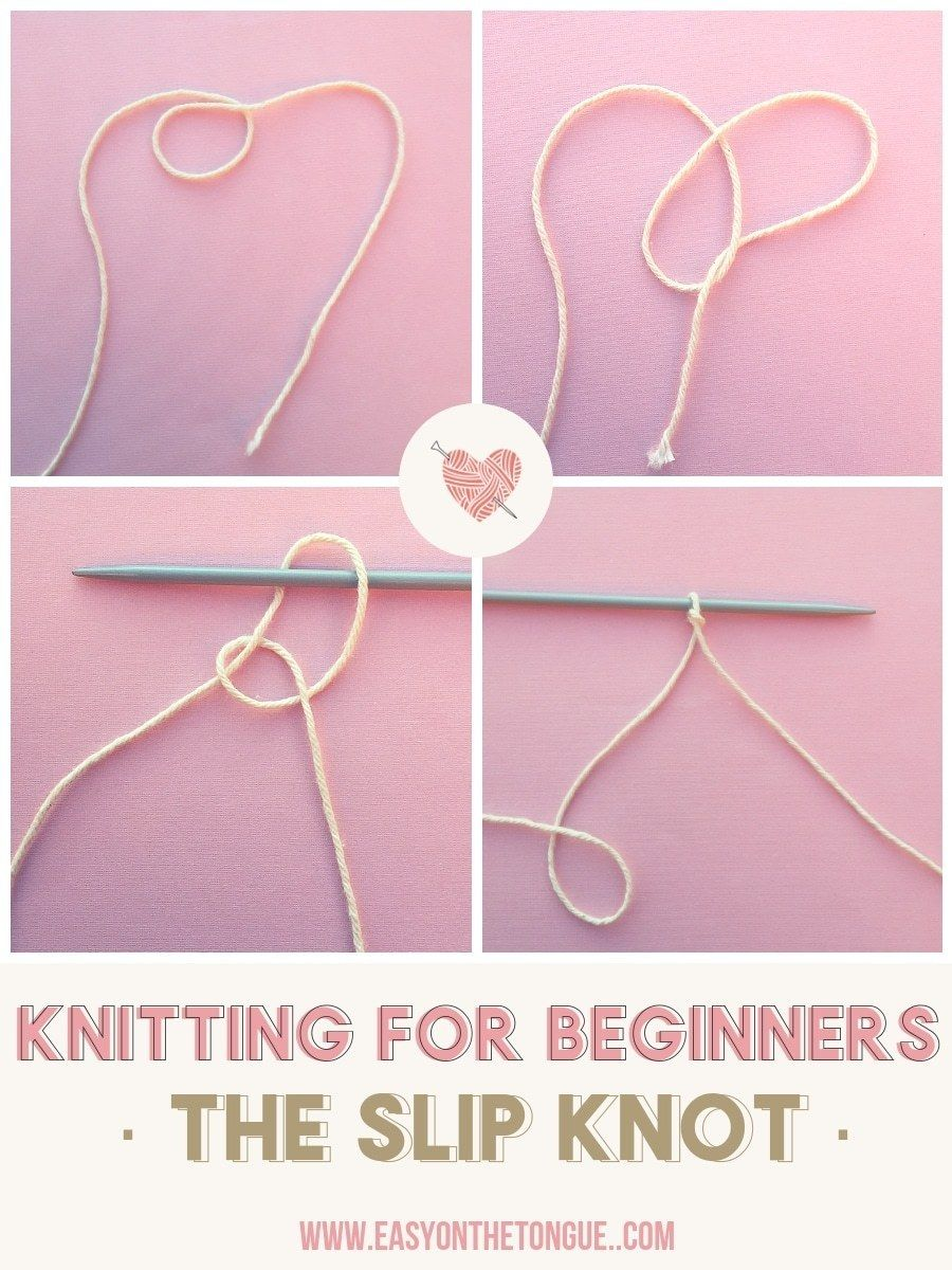 Beginners How To Make A Slip Knot
