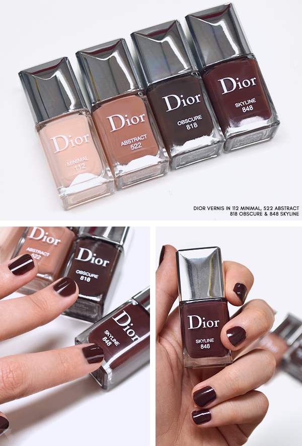 0f1f776ca76 Dior Skyline Nail Polish - Dior Vernis in 112 Minimal - 522 Abstract - 818  Obscure - 848 Skyline