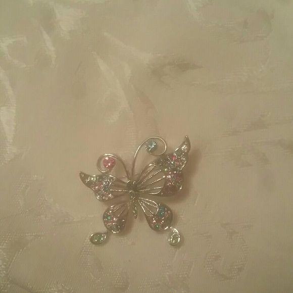 Austrian crystal butterfly brooch Austrian crystal butterfly brooch.  Multicolor Jewelry Brooches