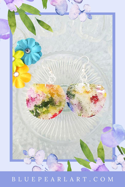 Blue Spring Flowers Spring earrings Watercolor Flower earrings Gift for her Gift Flower earrings Floral earrings Flower studs