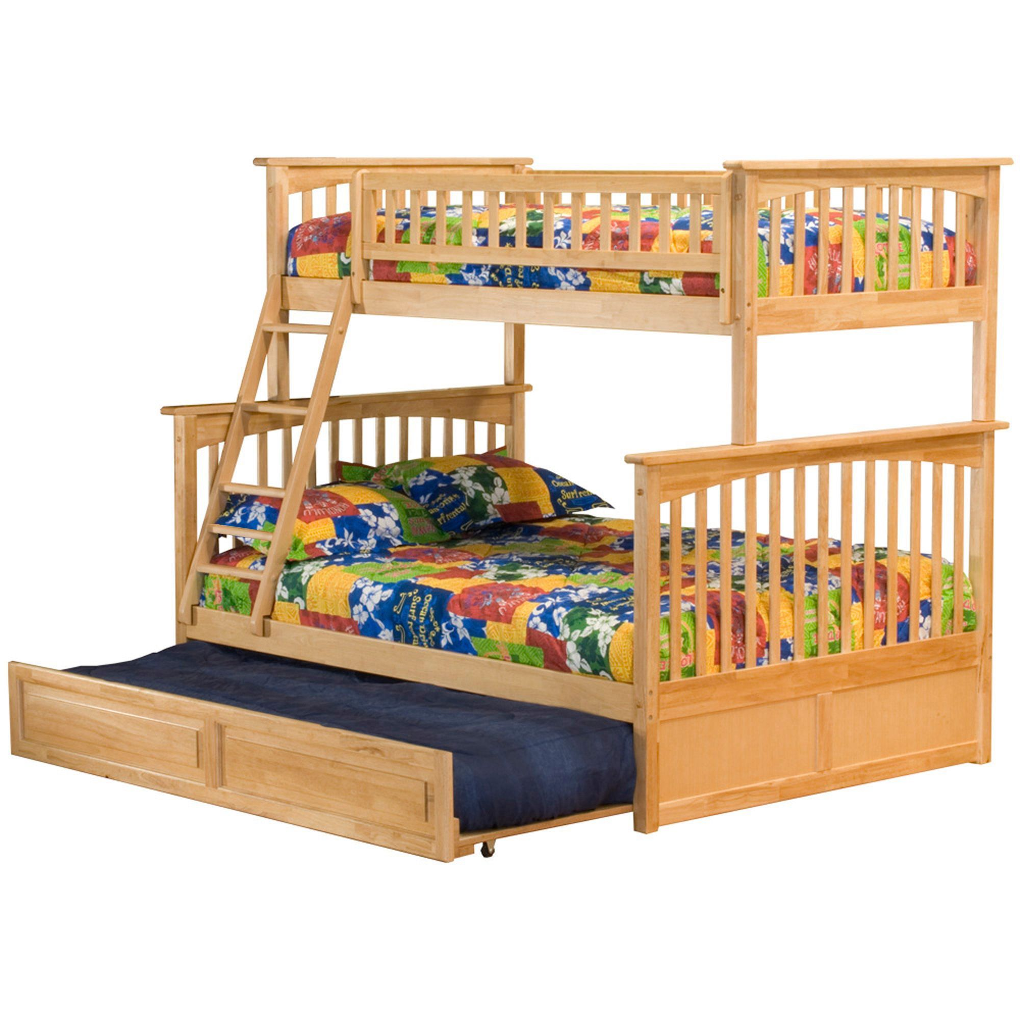 Atlantic Furniture Columbia Bunk Bed Twin Over Full With Trundle Bed