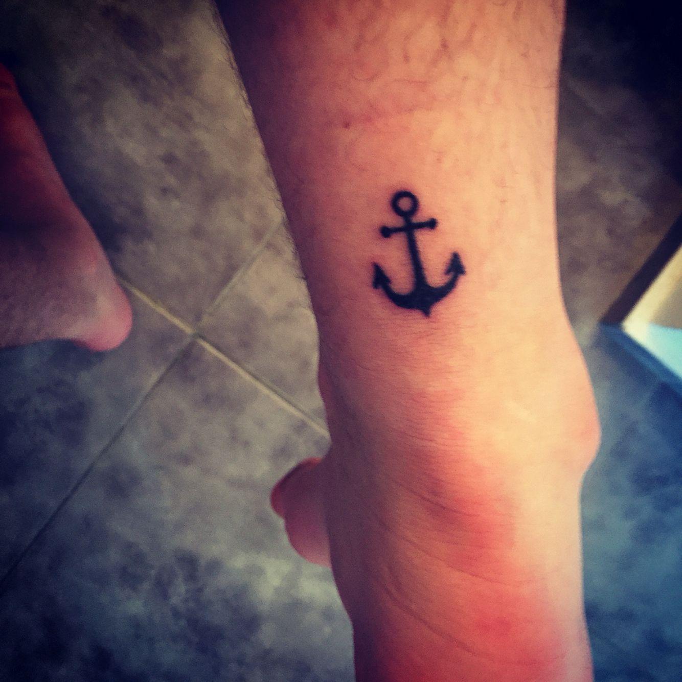 Tattoo Ancla Pie Hombre Tatto
