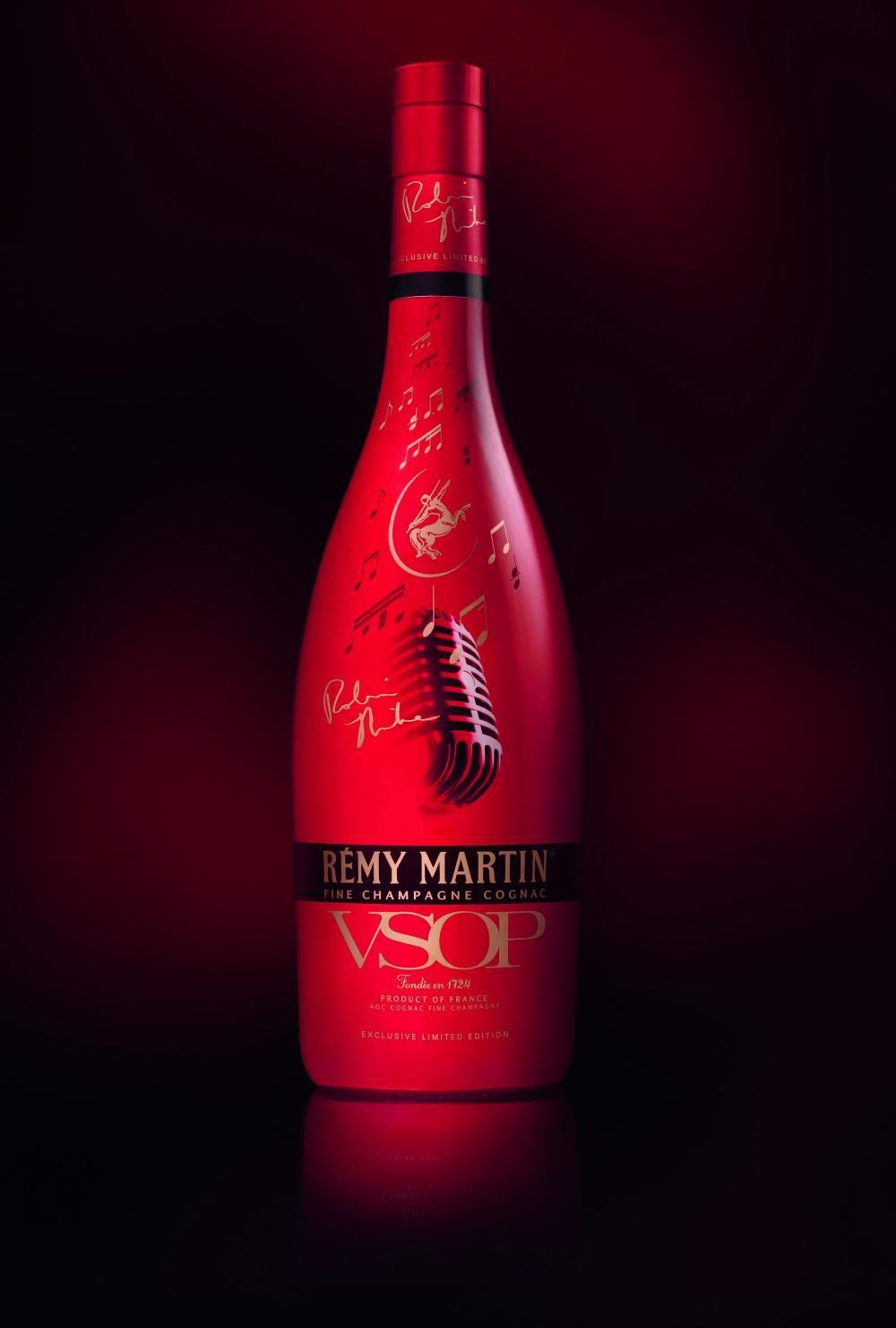 Remy Martin Vsop Robin Thicke Design Signature Limited Edition Bottle Bottle Design Packaging Bottle Wine Bottle