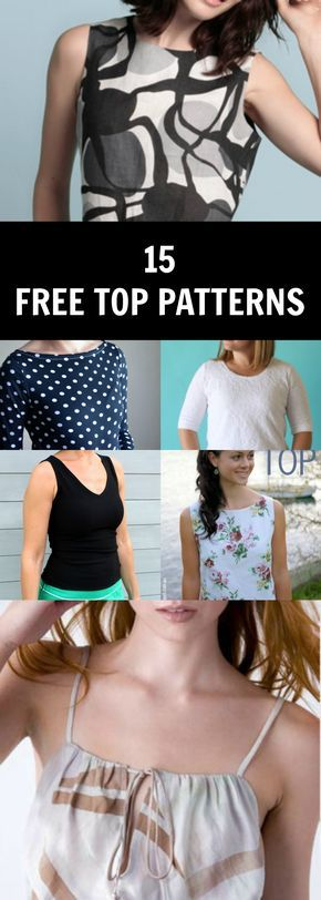 PDF Sewing Patterns | Summer tops, Sewing patterns and Pdf sewing ...
