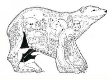 Polar Bear Stamp By Sue Coccia Coloring Pages
