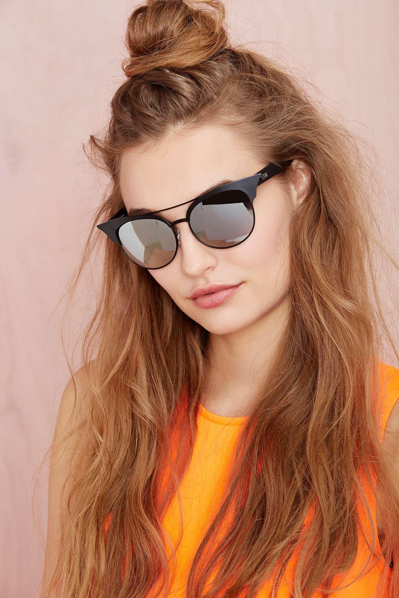 Quay ziggi shades accessories pinterest half bun hair style