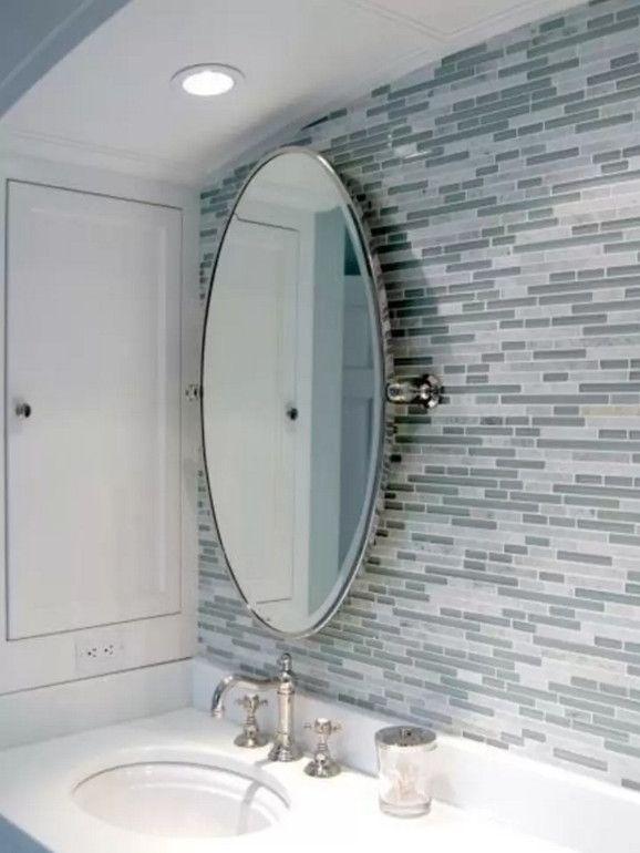 How To Hang Oval Bathroom Pivot Mirror Grey Bathroom Tiles