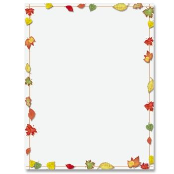 Simply Fall PaperFrames Border Papers PaperDirect Planners - downloadable page borders for microsoft word
