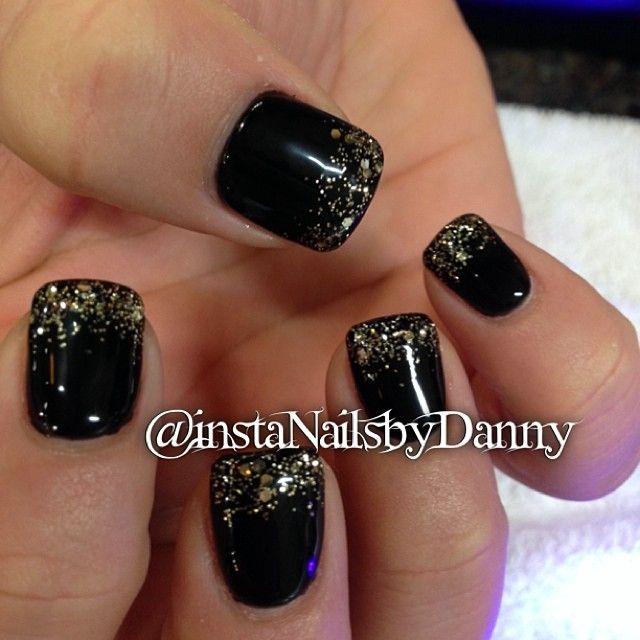 Edgy glitzy emo poser #nails #nail #gel #acrylic #nailart #fullset ...