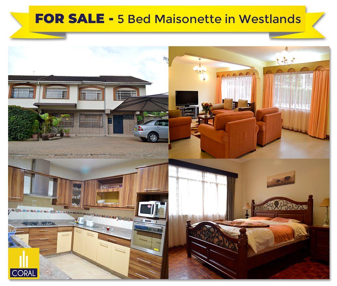 5 Bedroom Maisonette For Sale On Karuna Close Westlands Maisonette House Styles Sale