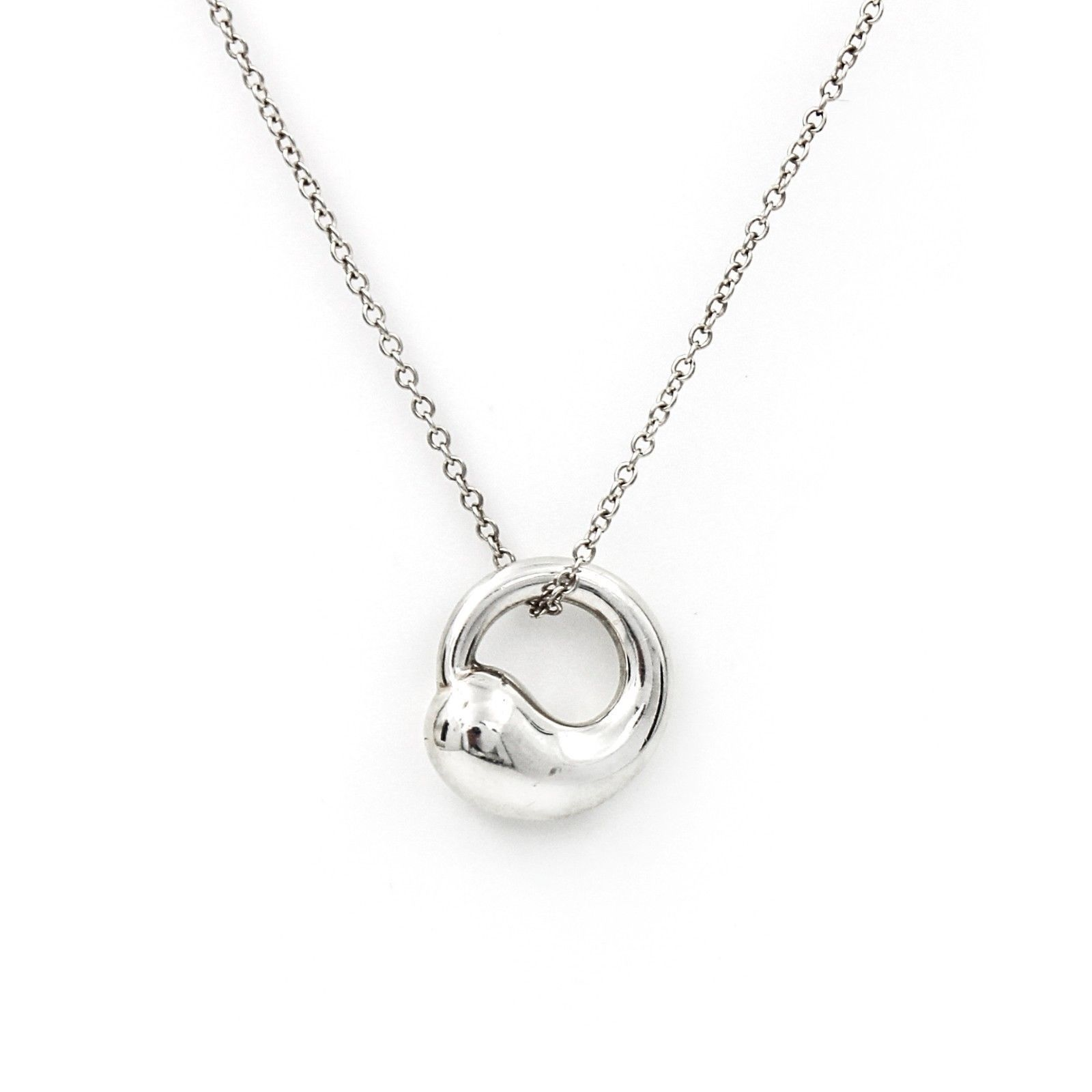 Tiffany co elsa peretti eternal circle necklace in sterling tiffany co elsa peretti eternal circle necklace in sterling silver aloadofball Images