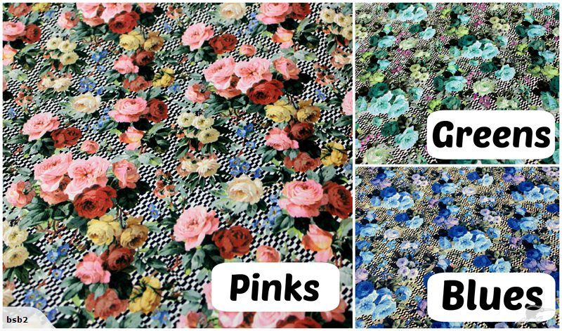 Vintage Style Floral Polyester 3 Great Shades | Trade Me