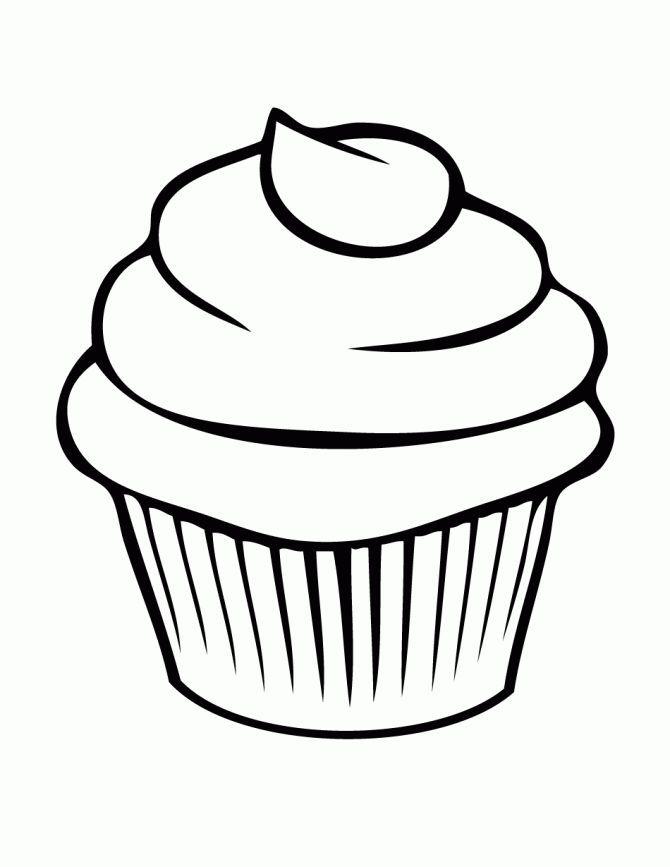 Cupcakes Animados Para Colorear Fvd