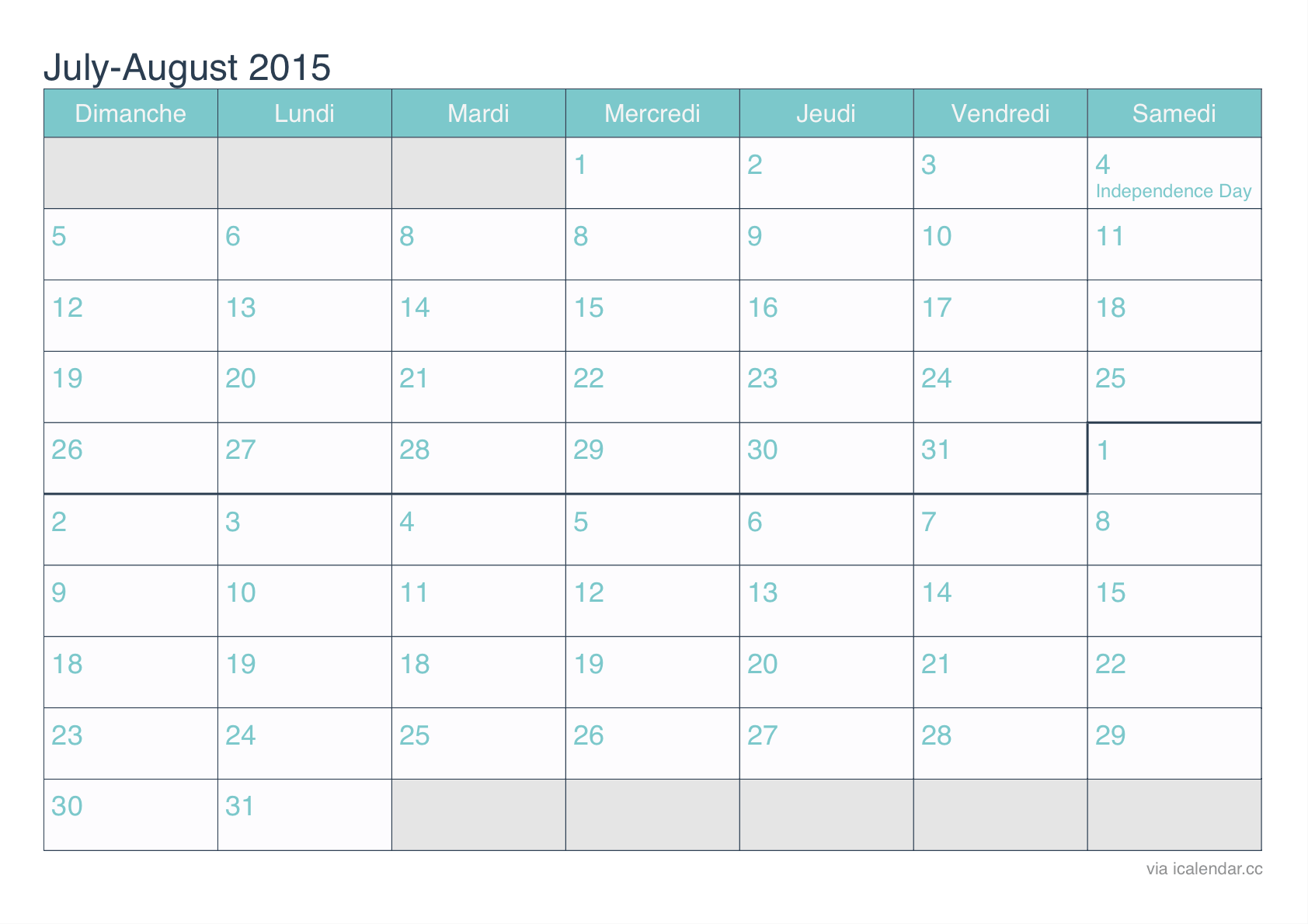 July 2015 Calendar Printable Pdf Template Holidays Images Calendar Printables 2015 Calendar Printable August 2015 Calendar