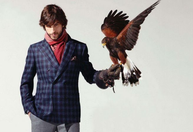 Helllll-o Esquire model hawk man