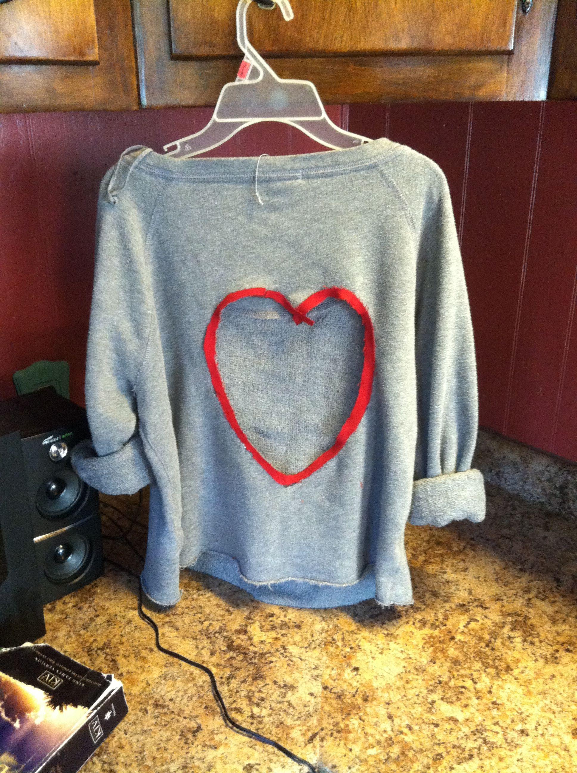 Cute diy shirt diy shirt diy clothes hacks diy sweatshirt