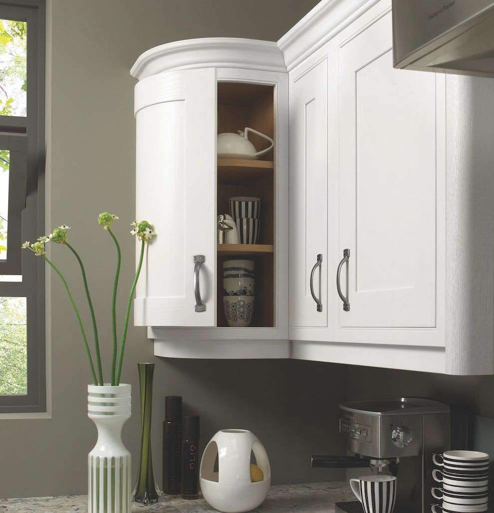 Mereway Kitchens hand made  contemporary  Curved Wall Unit