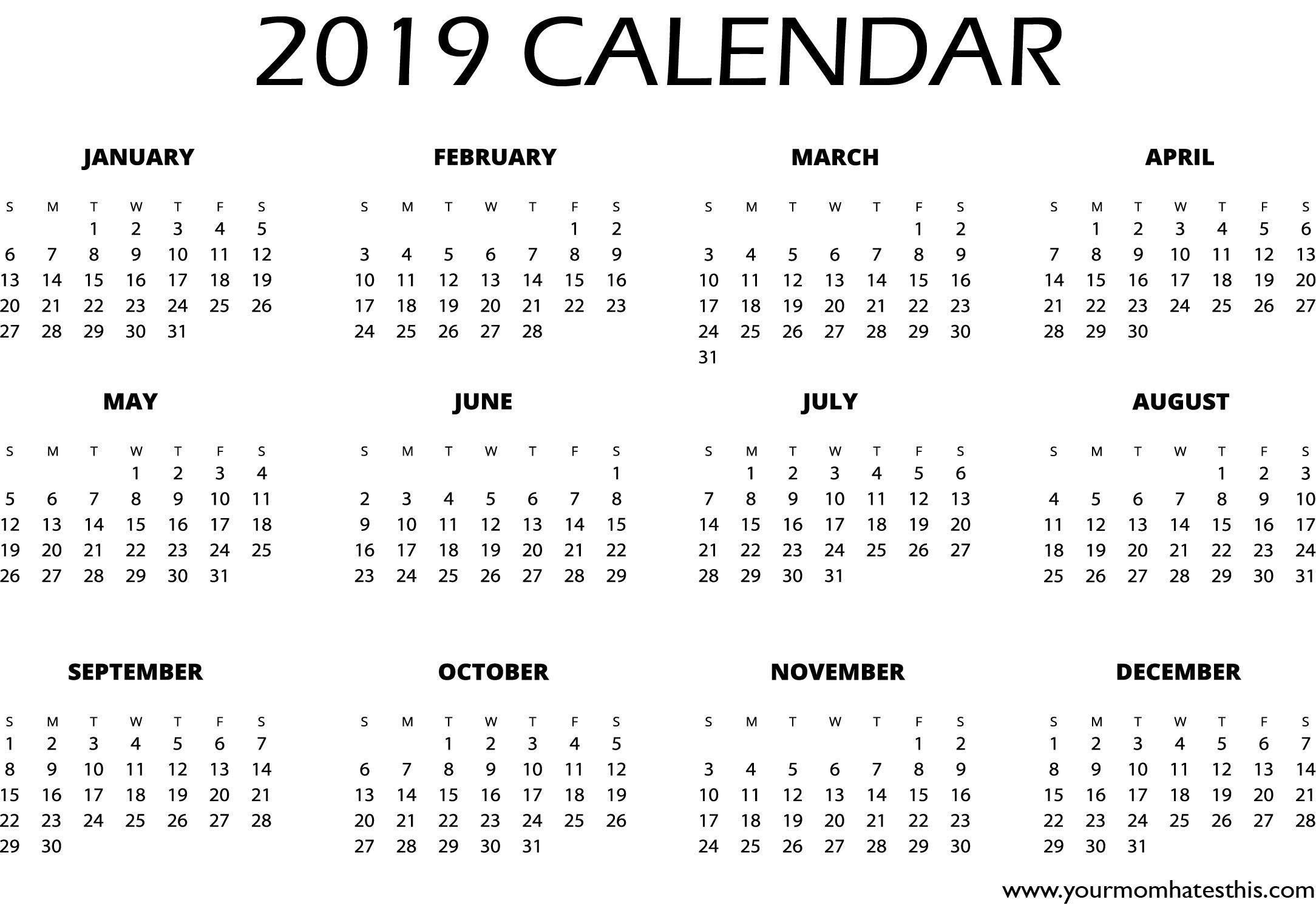 Calendar Design 2019 Calendar Design Ideas Calendar Design Layout