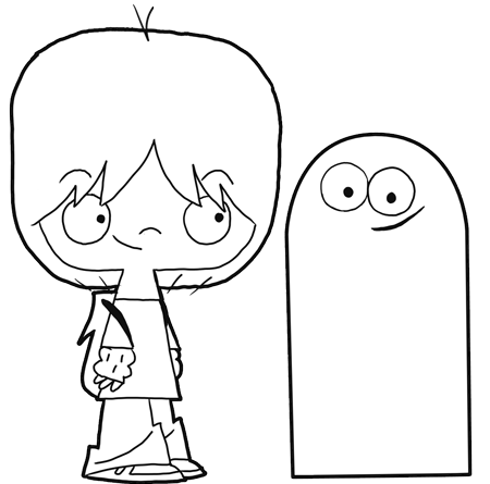 How to Draw Mac and Bloo from Foster's Home for Imaginary