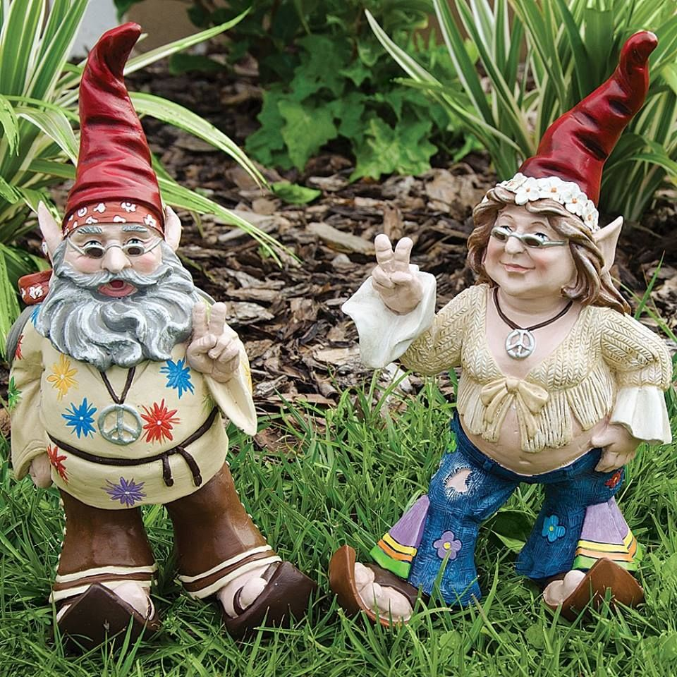 Hippie gnomes! | Gname that Gnome! | Pinterest | Gnomes, Gardens and ...