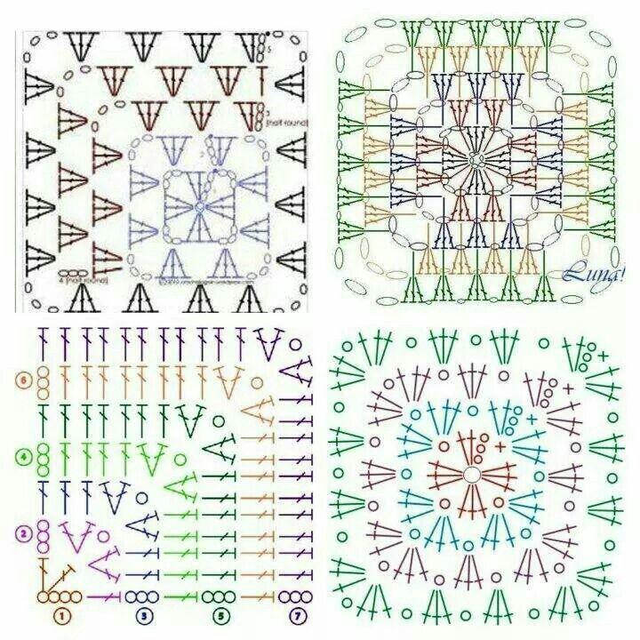 Squares | cuadrados | Pinterest | Cuadrados, Tejido y Patrones