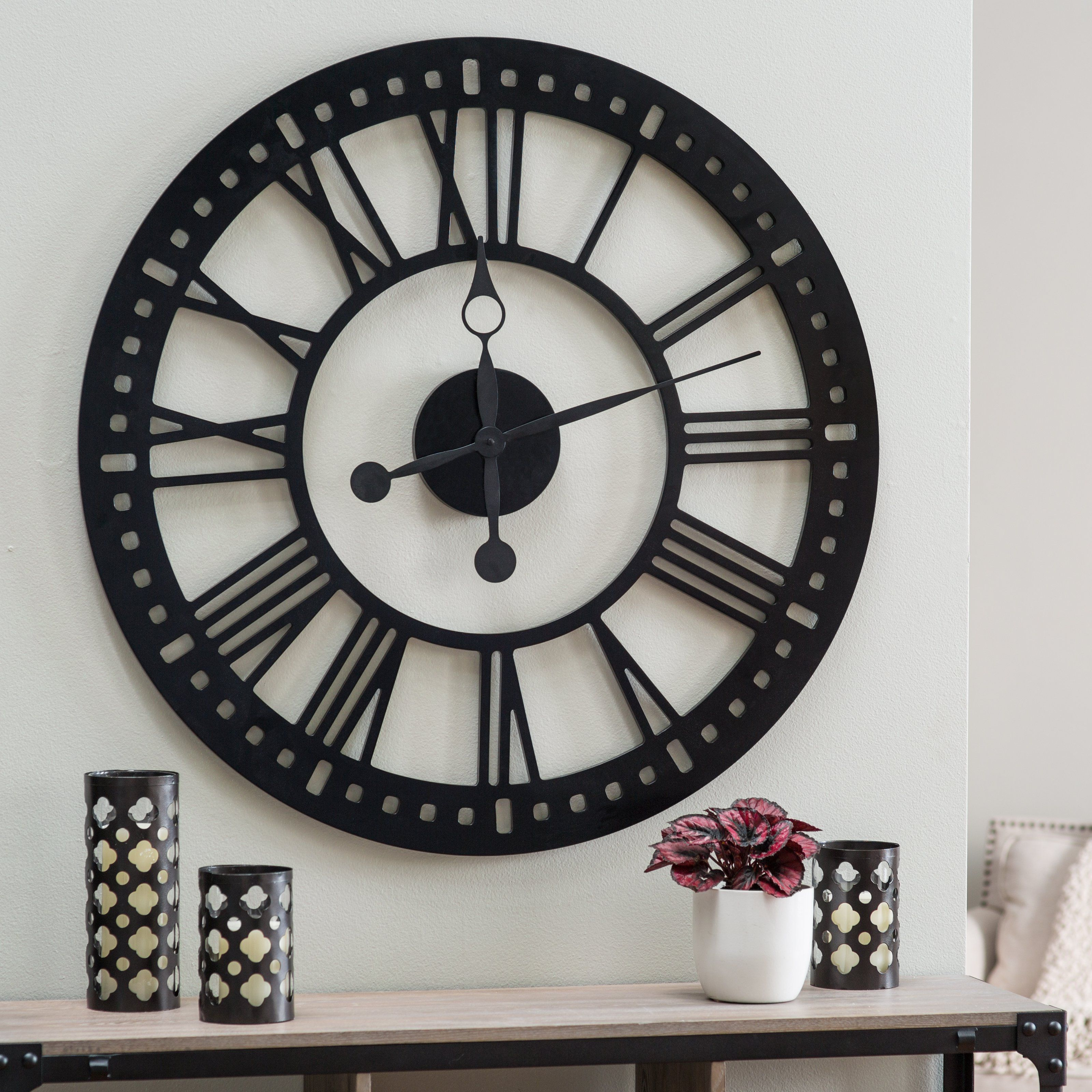 hawthorne oversized tower inch wall clock we clock and clock hawthorne oversized tower 38 inch wall clock 239 hayneedle