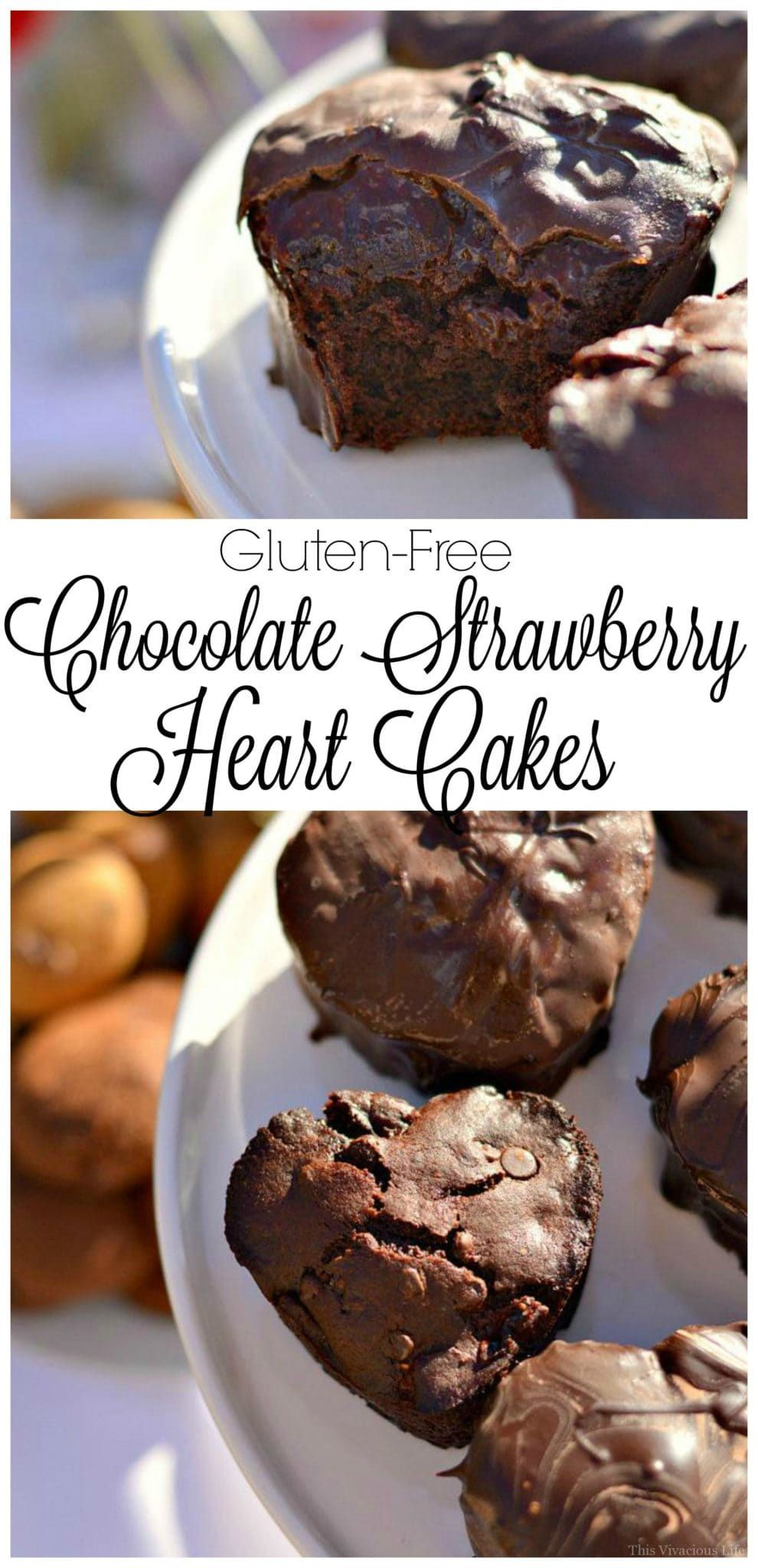 Chocolate Strawberry Heart Cakes