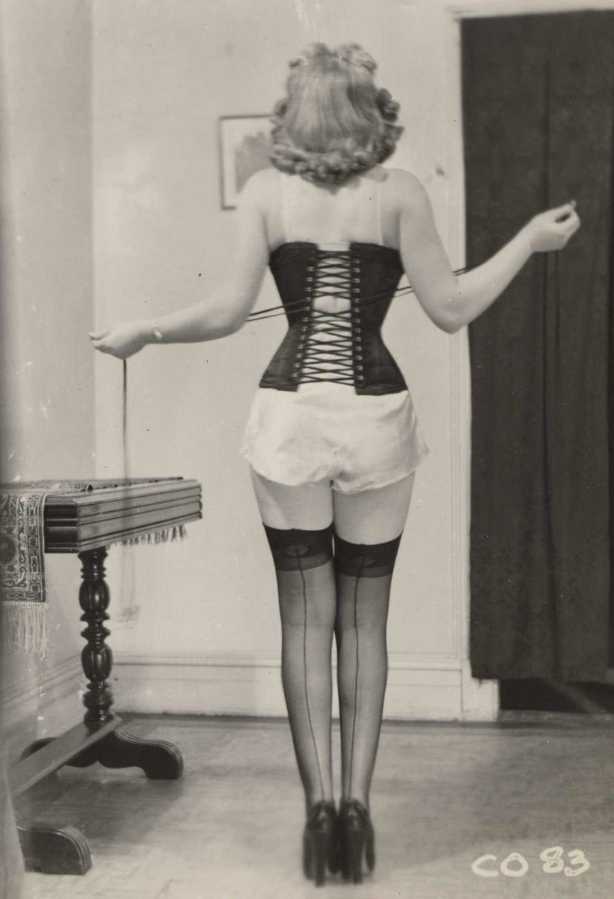 Vintage corset and stockings pinup | Vintage Lingerie ...