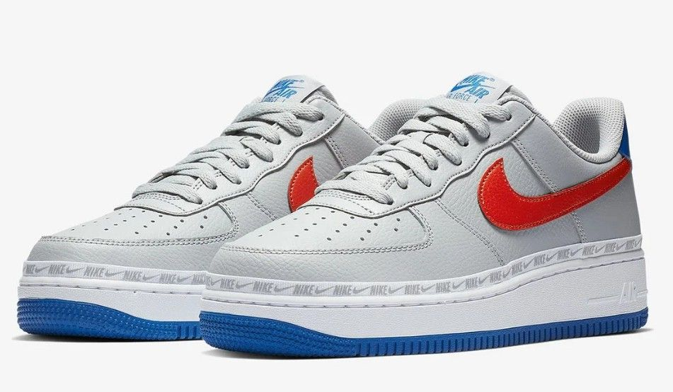 reputable site c10ce 99fc3 Nike Air Force 1 Low Color Wolf GreyHabanero Red-Game Royal Style Code  CD7339-001