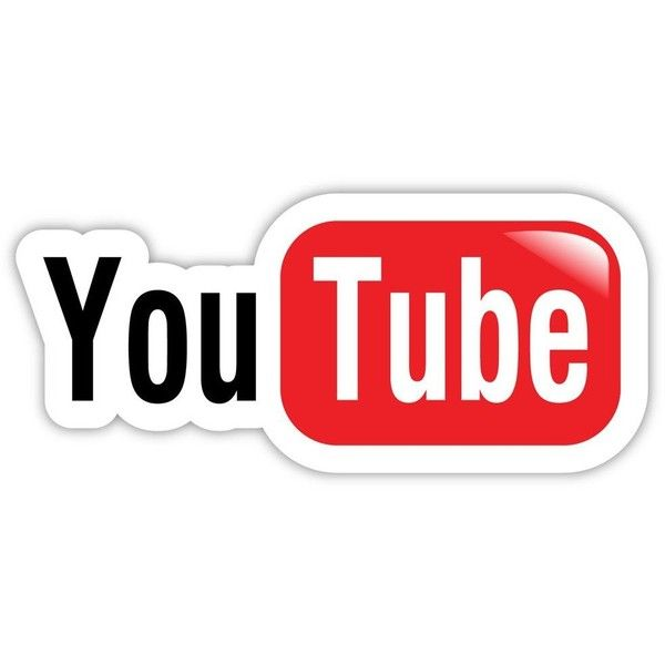 "YouTube You Tube Sticker Decal 6"" X 3"" ($11) Liked On"