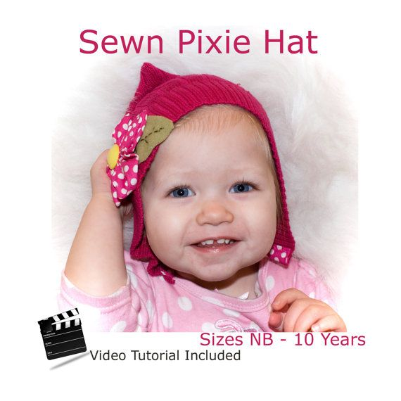 This is a PDF pattern and video tutorial that will be available to you immediately upon payment. This Pixie Hat pattern is VERY quick and can be