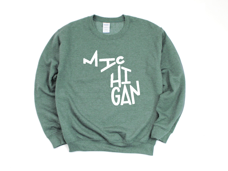 Michigan Sweatshirt Michigan Crewneck Michigan State T Shirt Michigan State Gifts Michigan Apparel Women S Michig Sweatshirts Shirt Designs Michigan Sweatshirt [ 2250 x 3000 Pixel ]