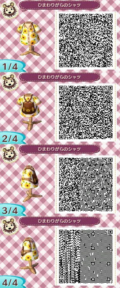 Sunflower Tourist Shirt Animal Crossing New Leaf Qr Code