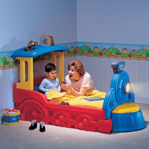 This would be perfect if james still has the same room in a few years baby pinterest for Toddler train bedroom