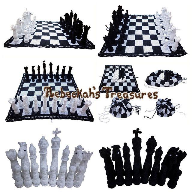 Crochet Chess Set pattern by Rebeckah Ferger | Pinterest | Juguetes ...