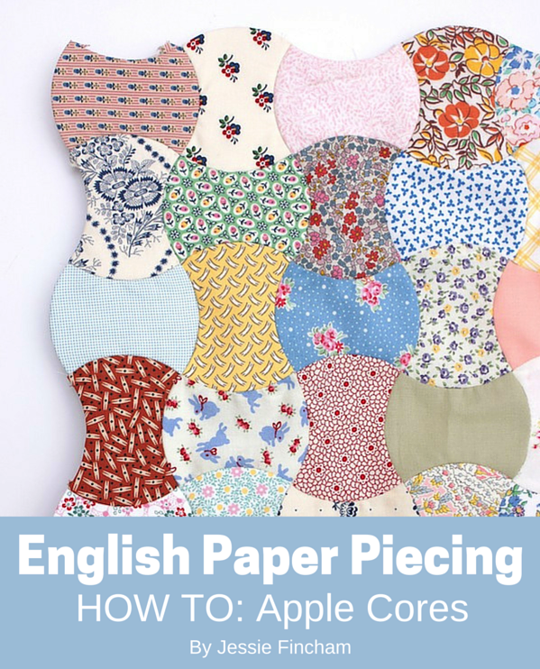 Edredon English.Tutorial Apple Cores English Paper Piecing Part 1 Basting