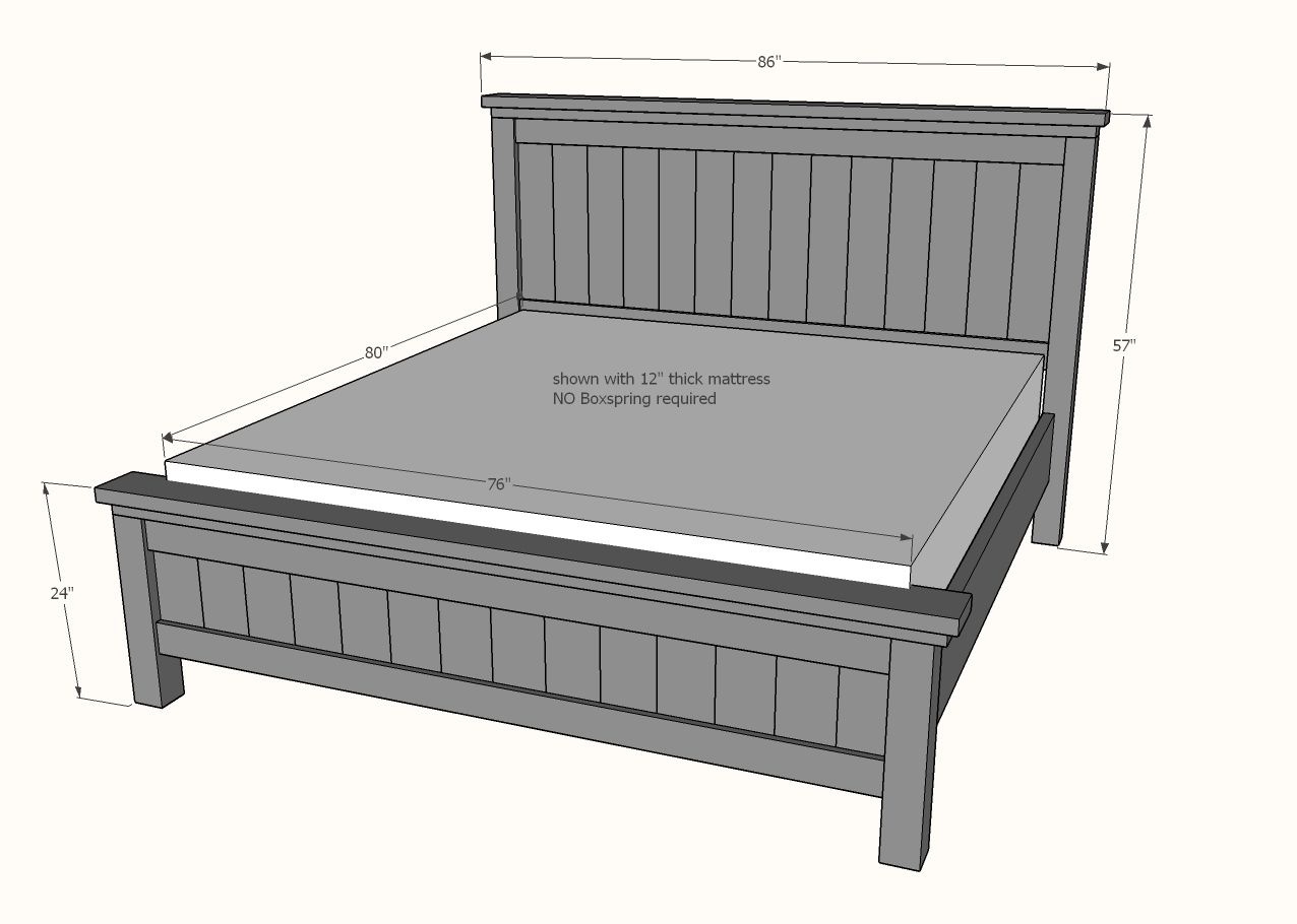 Farmhouse Bed Standard King Size Diy Farmhouse Bed Farmhouse Bed Frame Diy King Bed